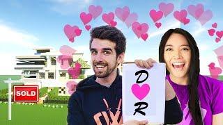 I Made a GIANT CWC Daniel and Regina love house in Minecraft - Spy Ninja challenge