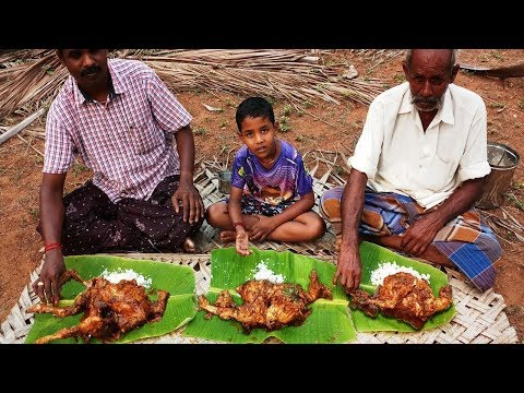 Cooking 3 Whole Chicken and Eating in my Village | Amazing Masala Chicken Curry | Food Money Food