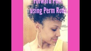 Natural Hair: Forward Puff using Perm Rods
