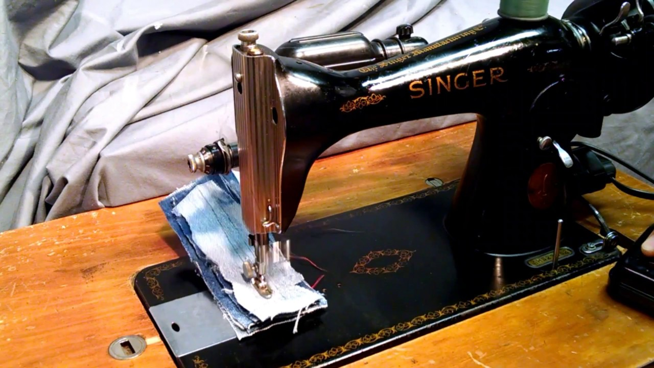 Serviced and Rewired Vintage 1948 Singer 15-91 Sewing Machine AH523352