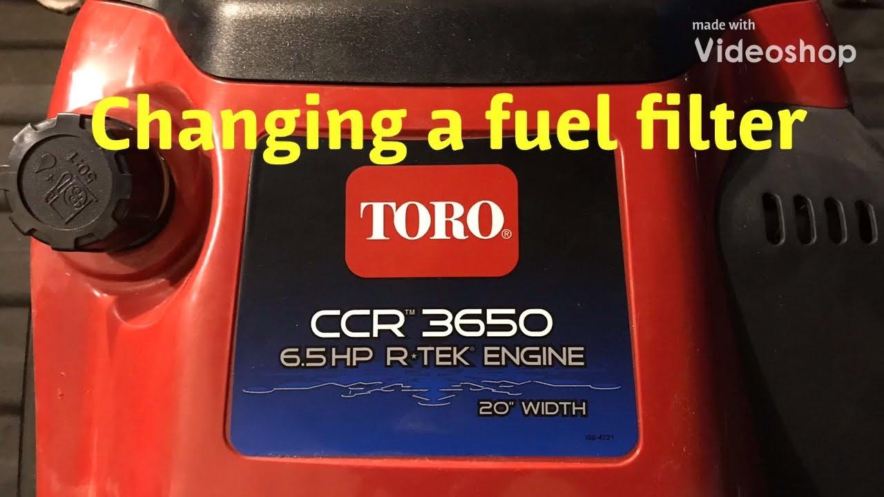 toro snowblower fuel filter replacement [ 1280 x 720 Pixel ]