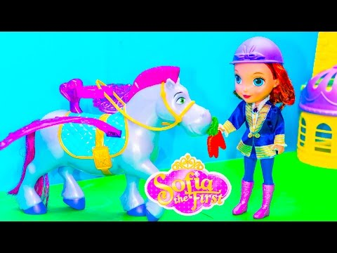 SOFIA THE FIRST Disney Sofia The First Flying Minimus + Disney Frozen Sofia Video Toy Review