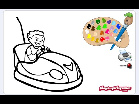 Bumper Car Coloring Pages For Kids
