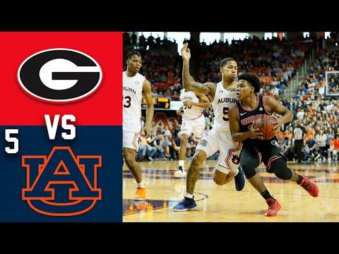2020 College Basketball Georgia Vs 5 Auburn Highlights