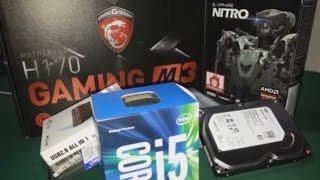 i5 6500 H170 GAMING M3 2GB R7 370 NITRO OYUN BILGISAYARI TOPLAMA