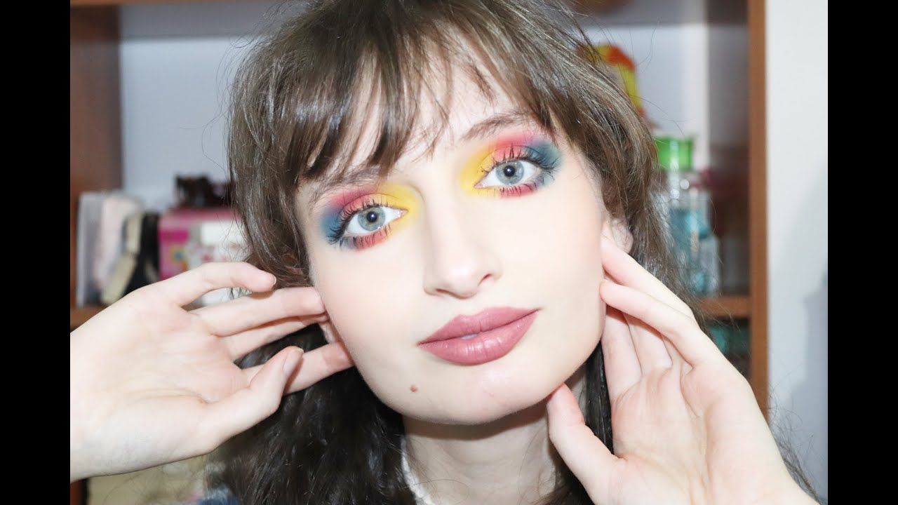 Blue and Red makeup tutorial | Cate Barbosa