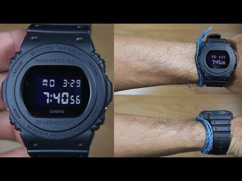 Casio G Shock Retro Dw 5750e 1b Full Black Unboxing