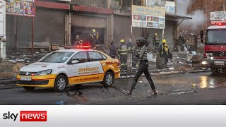 South Africa: Troops deployed on the streets of Johannesburg