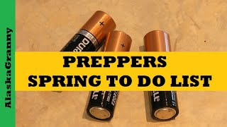 Preppers Spring To Do List - Cheap Fast Easy Prepping Tips