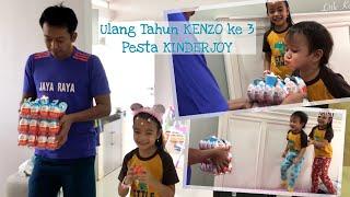 Download Video Little Kenzo Tiup Lilin Ulang Tahun ke 3   Pesta KinderJoy bersama Keluarga MP3 3GP MP4