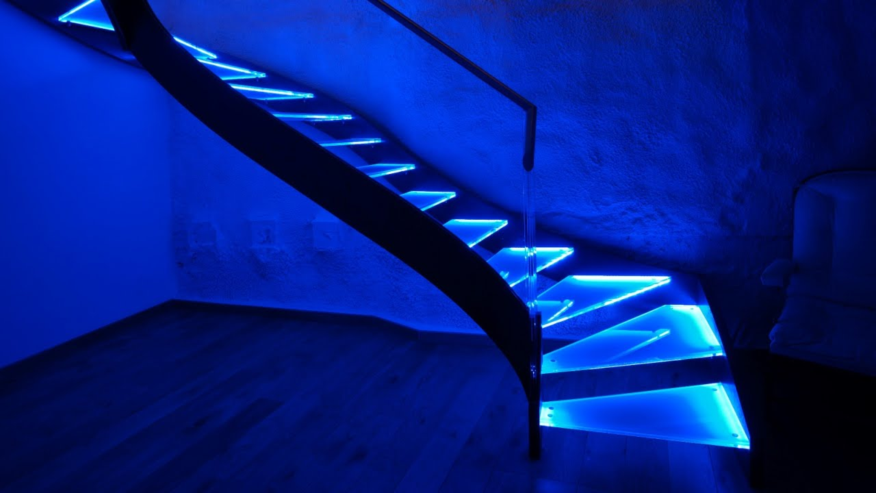 LED Stair Lighting   11 Ideas For Your Home   YouTube