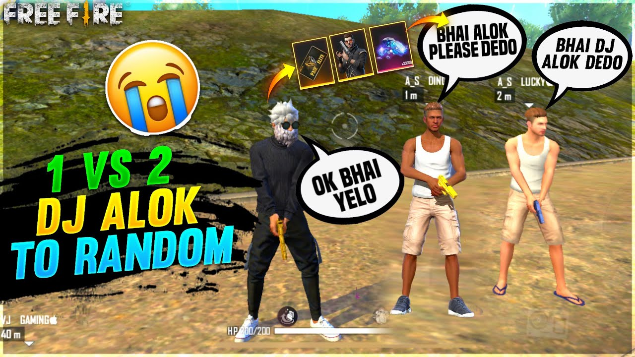 1 Vs 2 With My Subscriber For Dj Alok & Elite Pass🥺 Who Will Win? Op Challange -Garena Free fire