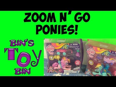 My Little Pony ZOOM 'N GO PONIES Review! Rainbow Dash And Pinkie Pie! By Bin's Toy Bin