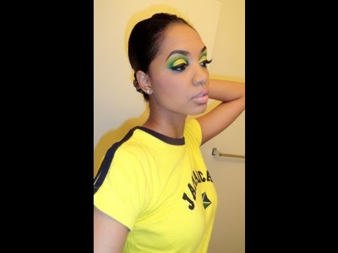 MAKEUP LOOK | Jamaica 50 + Olympics Inspired