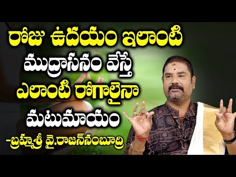 Top Yoga Mudras For Health In Telugu I Health Benefits Of Yoga Mudra | Brahma Sri Rajan Nabhudri