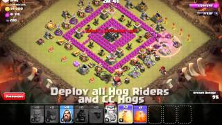 CS312a Class: how to 3* TH8 bases using hog riders in Clash of Clans