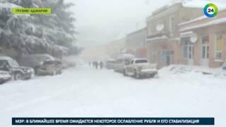 Баку оказался в снежном плену   МИР24