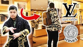 KID SPENDS ENTIRE SAVINGS ON GUCCI, LOUIS VUITTON, VERSACE IN VEGAS!!