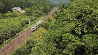 青い森鉄道 キハ100系3233D「快速しもきた」 乙供~千曳 2019年8月13日