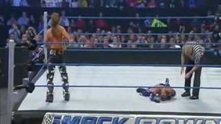 Best sweet chin music ever!!! Last part of Shawn Michaels vs Rey Mysterio 1/29/10