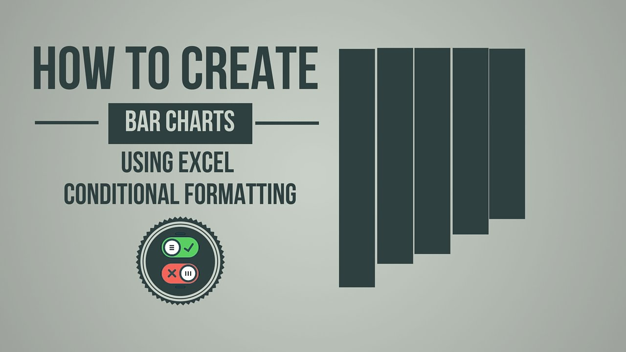 How to create bar charts using excel conditional formatting youtube ccuart Gallery