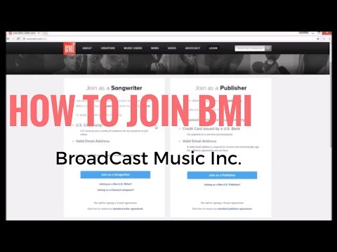 How to Join BMI (BroadCast Music Inc.) Start Collecting Music Royalties