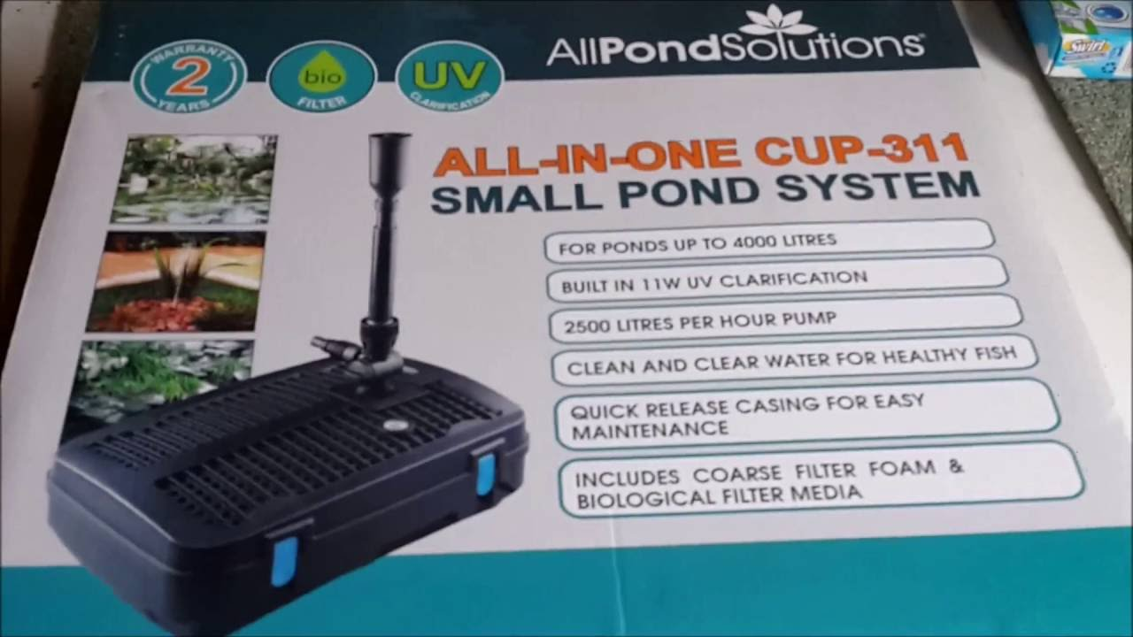 All pond solutions all in one filter unboxing and 1st for Best pond filter review