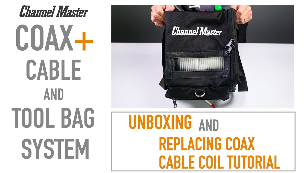 Coax+ Cable and Tool Bag System for DIYers and Professional Installers