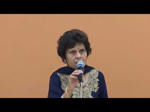 Indu Chhabra  singing at ICC monthly Senior Karaoke Prog. on 02/14/2018