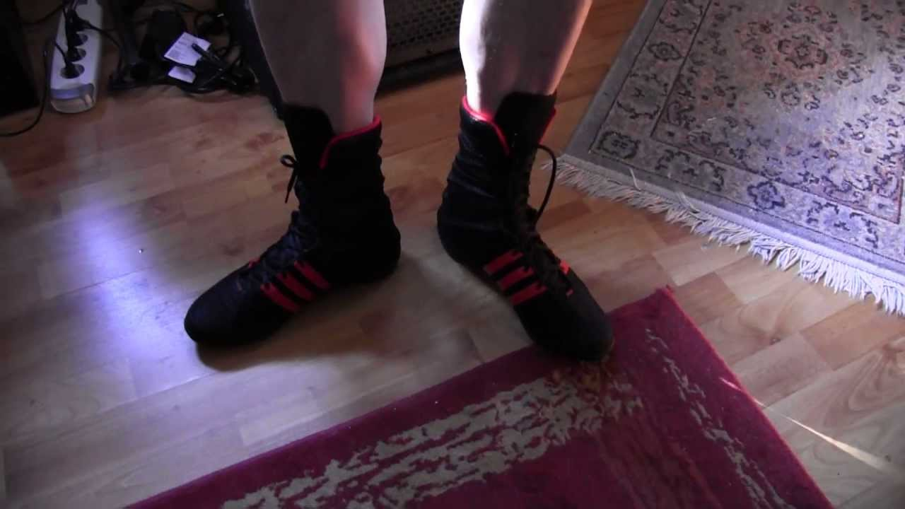 new arrival f72df 4925f Adidas ADIPOWER boxing boots! - YouTube