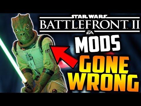Star Wars Battlefront 2 - Mods GONE WRONG (Bossk Edition!)