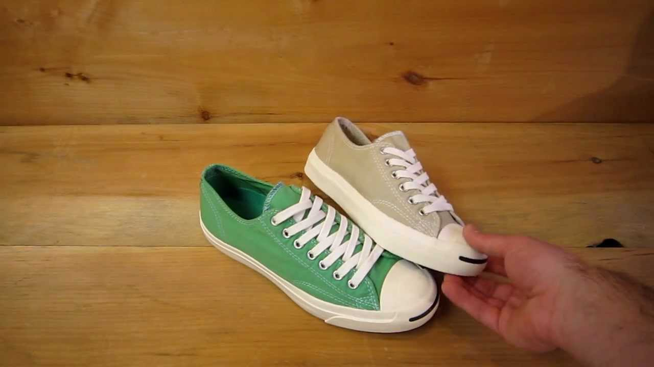 5ce231e4fcf0 Converse Jack Purcell Garment Dye - YouTube