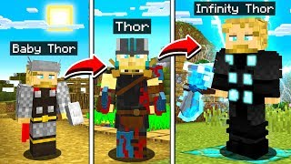 LIFE OF THOR IN MINECRAFT!