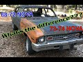 Chevy Nova Body differences 68-72 to 73/74