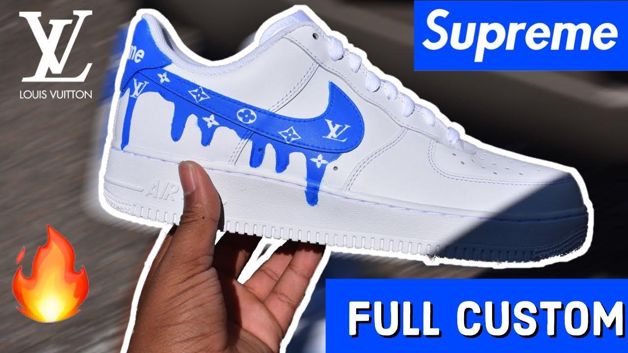 Lv X Supreme Drip Air Force 1 Full Custom Youtube