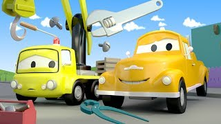 Эвакуатор Том и Кран Чарли в Автомобильный Город | Мультфильм для детей