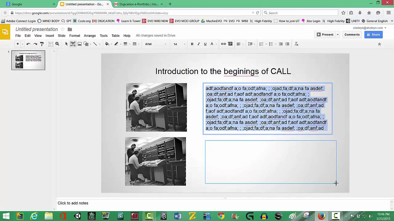 introduction to google slides 2015 youtube