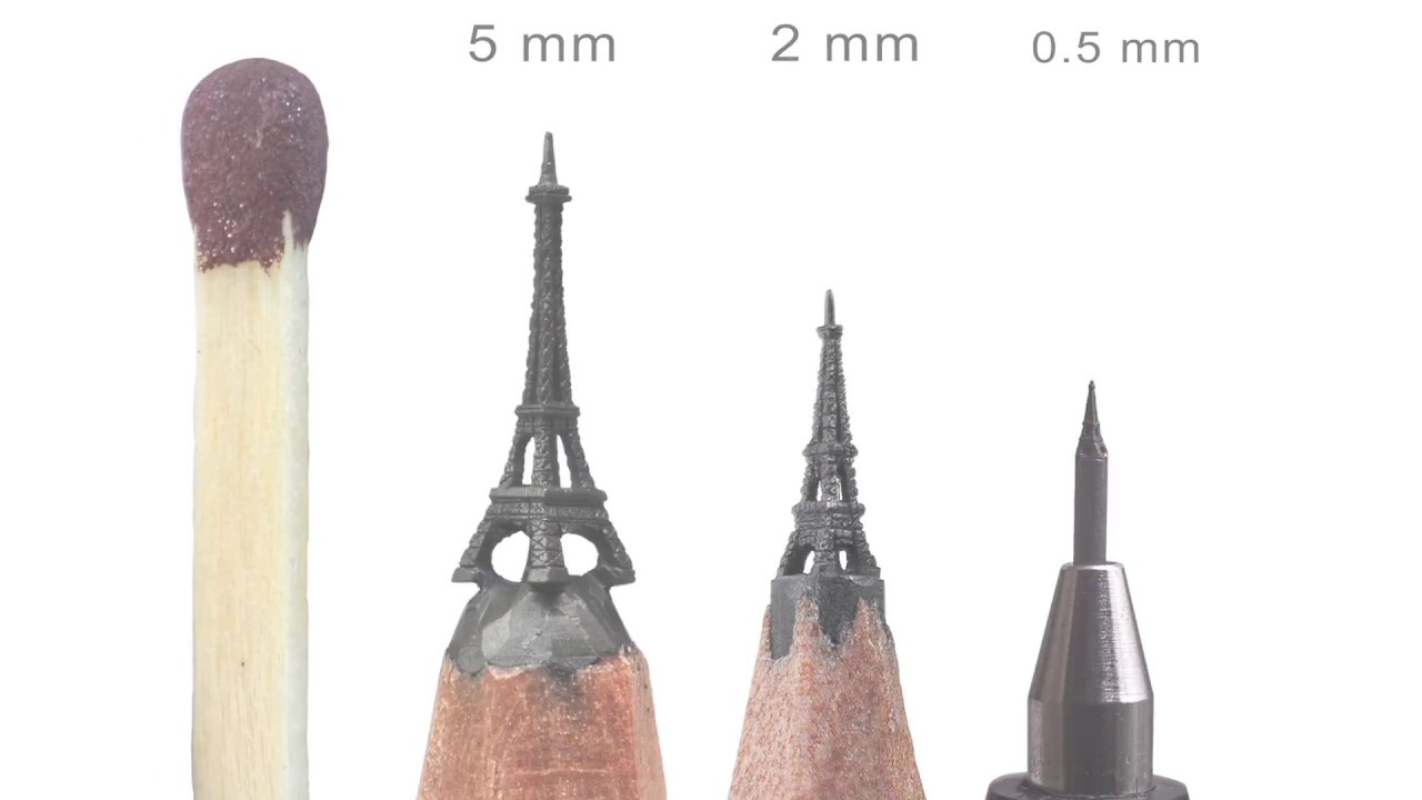 On point: sculptures on the tips of lead pencils