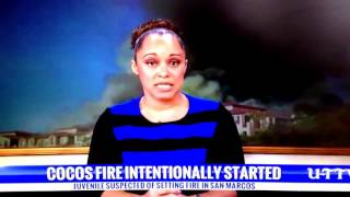 Deanne Arthur talks to UT TV about the Cocos Fires started by a juvenile