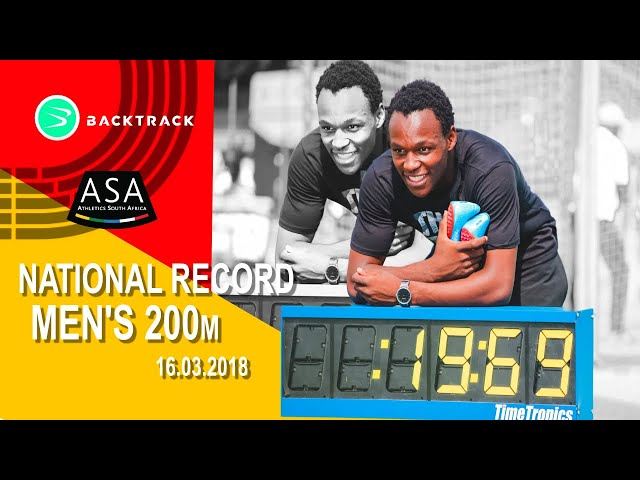 Munyai DEMOLISHES SA 200m record!! 19.69!!!!!