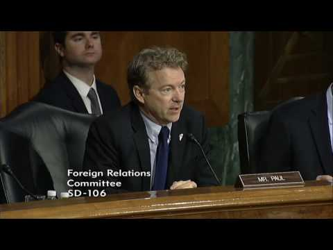 Rand Paul Questions Secretary of State Nominee Rex Tillerson