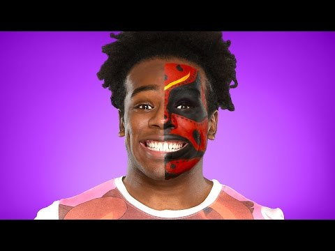 Xavier Woods transforms into Boogeyman: WWE Halloween Makeup Tutorial