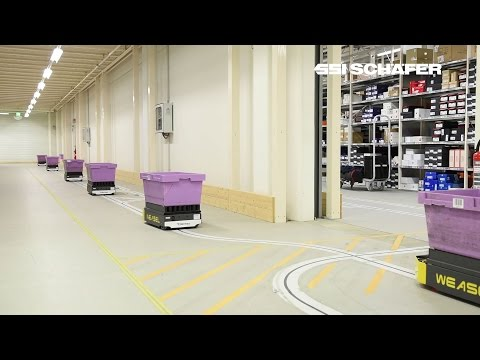 Automated Guided Vehicle Weasel®, E-Commerce, Supply Chain, Hermes Fulfilment GmbH