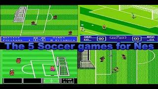 The 5 Soccer games for Nes