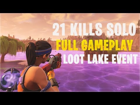 New Loot Lake Event - 21 Kills Solo | PS4 - Fortnite Battle Royale Gameplay