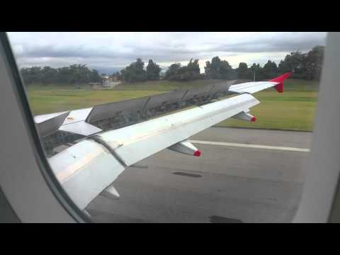 Landing at Bogota Colombia Airport - Oct 2015 - Samsung Note Edge Video