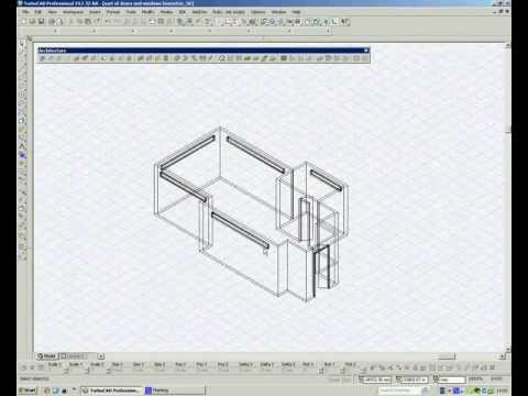 TurboCAD Architectural - Adding Walls & Windows