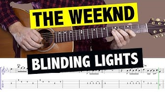 The Weeknd - Blinding Lights // Tutorial de Guitarra (MELODÍA + Tabs + Backing Track)