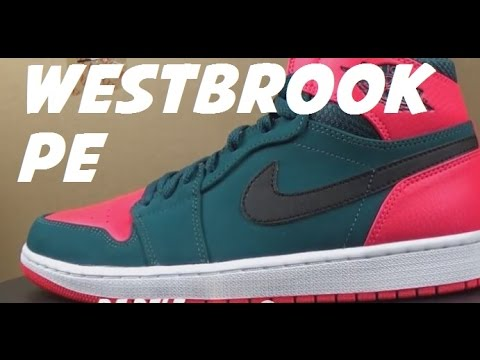 bca674655922 Air Jordan 1 Russell Westbrook PE Sneaker Review With  DjDelz - YouTube