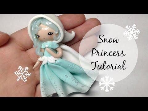 TUTORIAL: Basic Polymer Clay Snow Princess Chibi